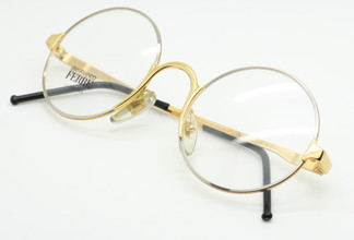 Gianfranco Ferre GFF23 Gold and Silver true round glasses from The Old Glasses Shop Ltd