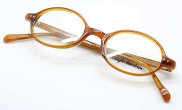 Anglo American 401 OP18 tan acrylic oval glasses from www.theoldglassesshop.co.uk