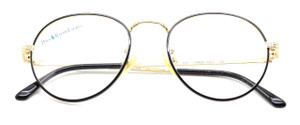Polo Ralph Lauren Classic VI/P shiny gold and black panto frame from www.theoldglassesshop.co.uk