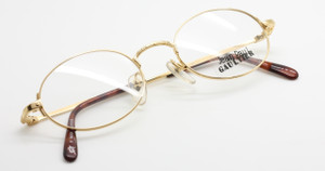 Jean Paul Gaultier 3172 shiny gold oval glasses from www.theoldglassesshop.co.uk