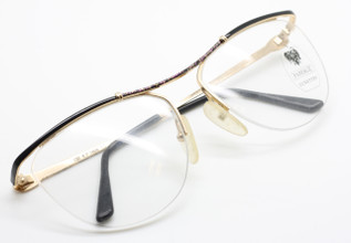 Faberge Lunettes 1808 cat eye aviator style glasses from www.theoldglassesshop.co.uk