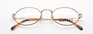 Nikon TACT TC 6107 oval gold and turtle frames from www.theoldglassesshop.co.uk