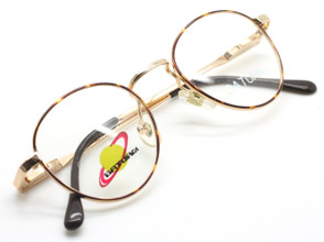 Saturn 8 Essentials C2 Gold and Demi-Amber panto frame from www.theoldglassesshop.co.uk