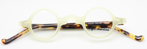 Anglo American Groucho OP31/AH in cream and tortoiseshell from www.theoldglassesshop.co.uk