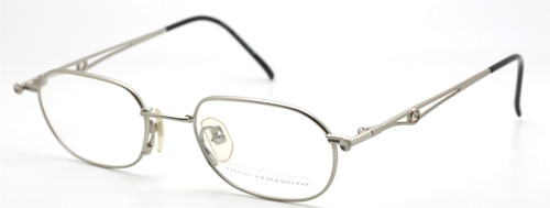 Vintage Rectangular Yamamoto 4116 50mm In A Matt Silver Finish At The Old Glasses Shop