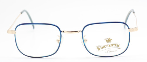 Winchester Redcloud in Blue and Gold from www.theoldglassesshop.co.uk