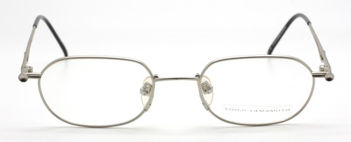 Vintage Yohji Yamamoto 4116 Rectangular Matt Silver Eyewear At The Old Glasses Shop