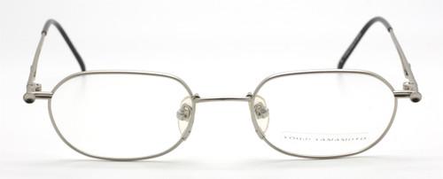 Vintage Yohji Yamamoto 4116 Rectangular Matt Silver Eyewear At The Old Glasses Shop
