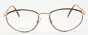 Gucci 2355 V41 gold and tortoiseshell frame from www.theoldglassesshop.co.uk