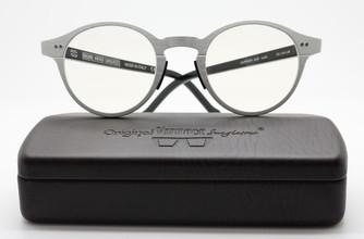Original Vintage  AL02 Aluminium Panto Shaped Eyewear At The Old Glasses Shop