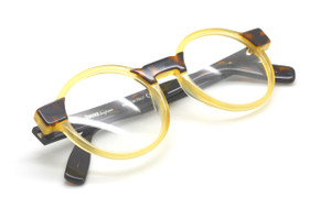 Original Vintage POZZUOLI In A Tan Yellow And Tortoiseshell Acetate 48mm