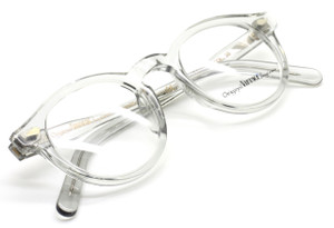 Round Style Vintage Acrylic Glasses In Translucent Grey Acetate At www.theoldglassesshop.co.uk