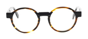 Designer Italian Round Glasses In Tortoiseshell Effect At www.theoldglassesshop.co.uk