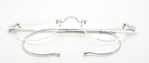 Vintage Rimless Spectacles In Silver With Warwick Bridge & Hooked Ear Pieces At The Old Glasses Shop