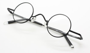 Beuren DY 305 black small round glasses from www.theoldlgassesshop.co.uk