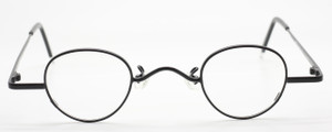 Small Vintage Panto Shaped Spectacles In Matt Black By Beuren At The Old Glasses Shop