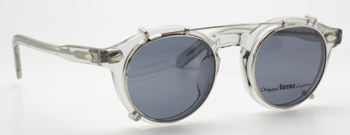 Original Vintage Procida Grey col.10 with Clip On from www.theoldglassesshop.co.uk