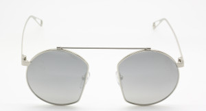 Agropoli Round Style Metal Silver Original Vintage Sunglasses from www.theoldglassesshop.co.uk