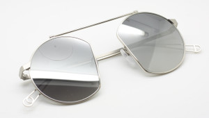 Unique AGROPOLI Sunglasses Original Vintage Round Style In A Silver Finish 46mm