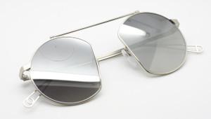 Unique AGROPOLI Sunglasses Original Vintage Round Style In A Silver Finish 46mm