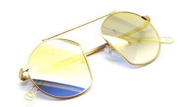 Vintage Style Round Sunglasses In Gold At www.theoldglassesshop.co.uk