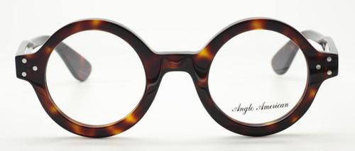 Vintage Large Round Glasses In Dark Amber Acrylic At www.theoldglassesshop.co.uk