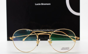 LIMITED EDITION 24kt Gold Plated Archivio Moderno Luxury Glasses By Lucio Stramare