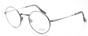 Archivio Moderno Luxury Matt Gunmetal Round Eyewear with Adjustable Arm Length By Lucio Stramare 2001 02