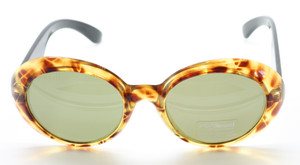 Large Oval Sunglasses By Polaroid In Black & Tortoiseshell At The Old Glasses Shop
