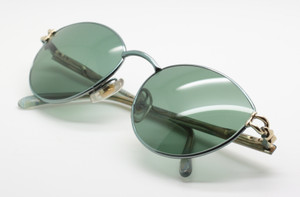 Gucci GG2374 gold and metallic blue sunglasses from www.theoldglassesshop.co.uk