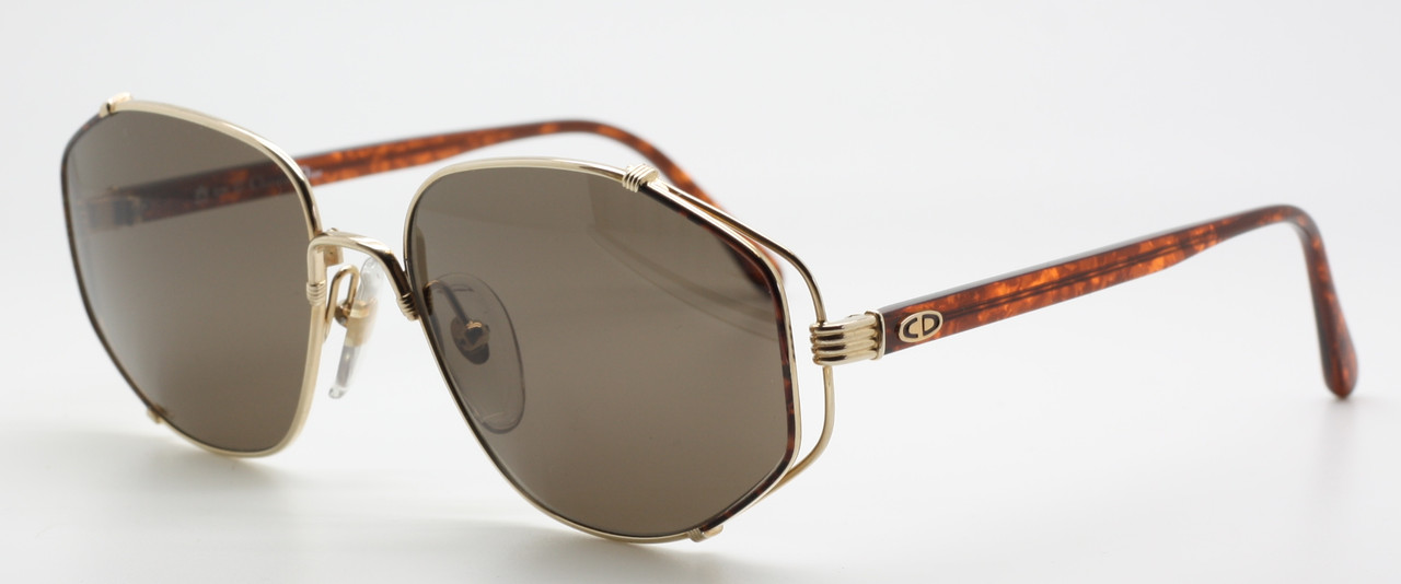 bed1f5b8792c Christian Dior 2594 41 Vintage Gold Metal and Acrylic Combination Designer  Sunglasses