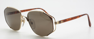 Christian Dior 2594 41 Vintage Gold Metal and Acrylic Combination Designer Sunglasses