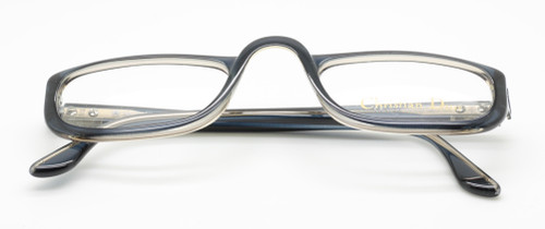 Christian Dior 2075 Dark Blue/Grey two tone glasses from www.theoldlgassesshop.co.uk
