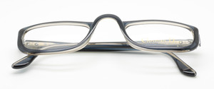 LAST ONE! Christian Dior Classic Vintage Reading Style Acrylic Glasses 2075 Dark Blue/Grey two tone