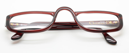 Christian Dior 2075 burgundy glasses from www.theoldglassesshop.co.uk
