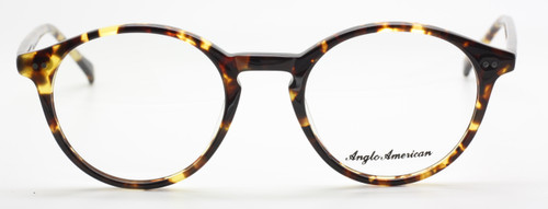 Vintage Style Anglo American 406 Eyewear In Tortoiseshell Effect Acrylic At The Old Glasses Shop