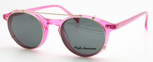 Retro Anglo American 406 Eyewear In A Stunning Pink Acrylic At The Old Glasses Shop