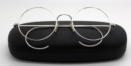 Vintage Savile Row True Round 49mm Silver Spectacles With Curlsides At The Old Glasses Shop