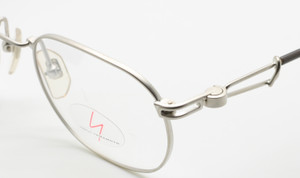 Yohji Yamamoto 4113 Vintage Rectangular Eyewear In Matt Silver Finish At The Old Glasses Shop