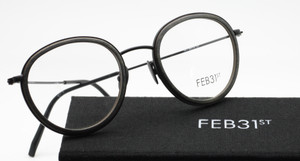 Feb31st Nico Grey and Black handmade frames from www.theoldlglassesshop.co.uk