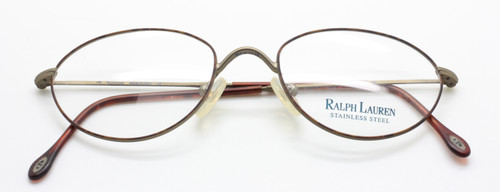 Ralph Lauren Stainless Steel Oval Glasses 583 1BC from www.theoldglassesshop.co.uk