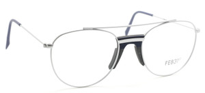 Matt Silver & Wood Vintage Style Spectacles By Feb31st At www.theoldglassesshop.co.uk