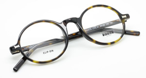 Les Pieces Uniques DANTE Round Style Dark Tortoiseshell Retro Spectacle Frames from Italy