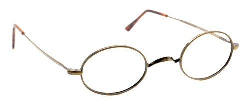 Beuren 1720 Antique Gold Oval Glasses from www.theoldglassesshop.co.uk
