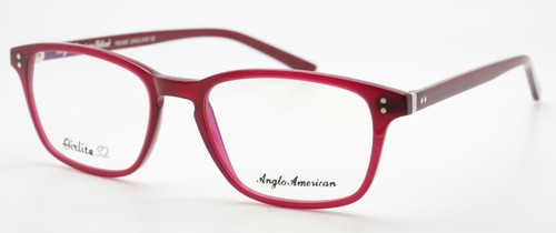Anglo American Airlite S2 102 OP23 in Burgundy from www.theoldglassesshop.co.uk