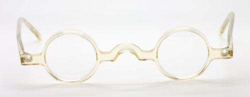 Vintage Small Style Round Acrylic Glasses By Beuren At www.theoldglassesshop.co.uk