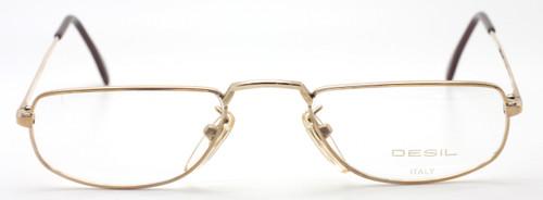 Designer Vintage Half Moon Shaped 14kt Rolled Gold Eyewear At The Old Glasses Shop