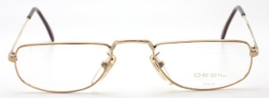 Designer Vintage Half Moon Shaped 14kt Rolled Gold Eyewear At The Old Glasses Shop