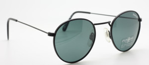 Vintage Polaroid Sunglasses In Matt Black At The Old Glasses Shop