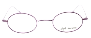 Anglo American 41N MPU Purple Oval Glasses from The Old Glasses Shop Ltd